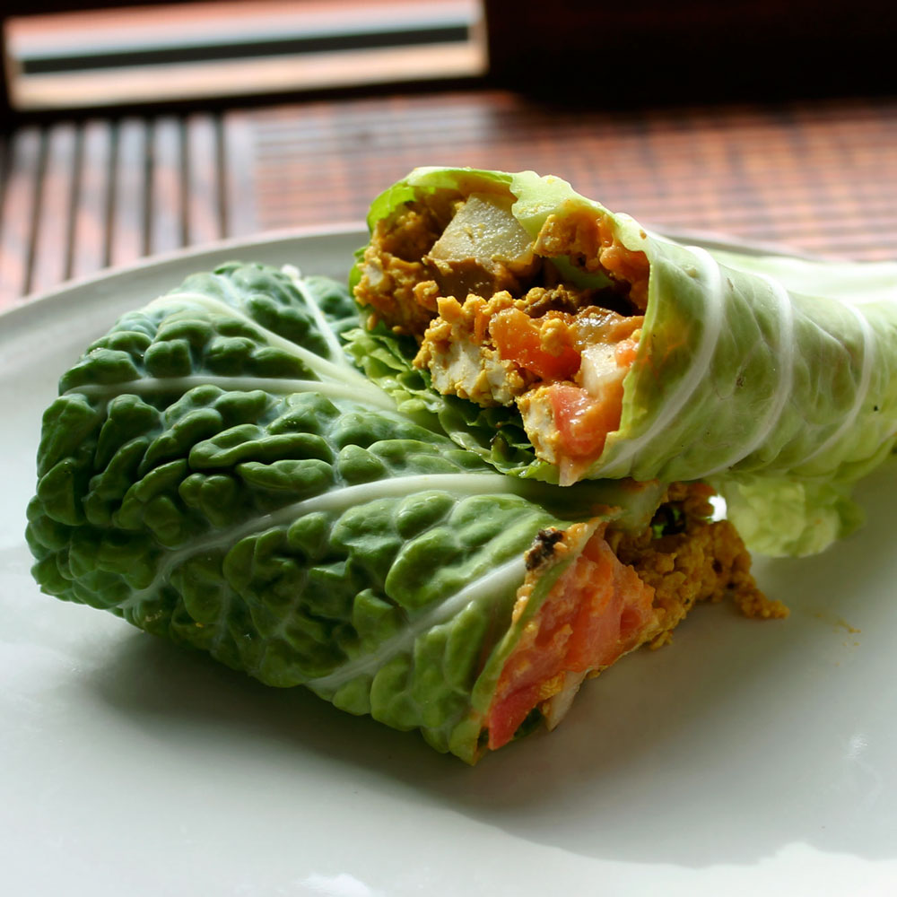 tofu scramble wraps