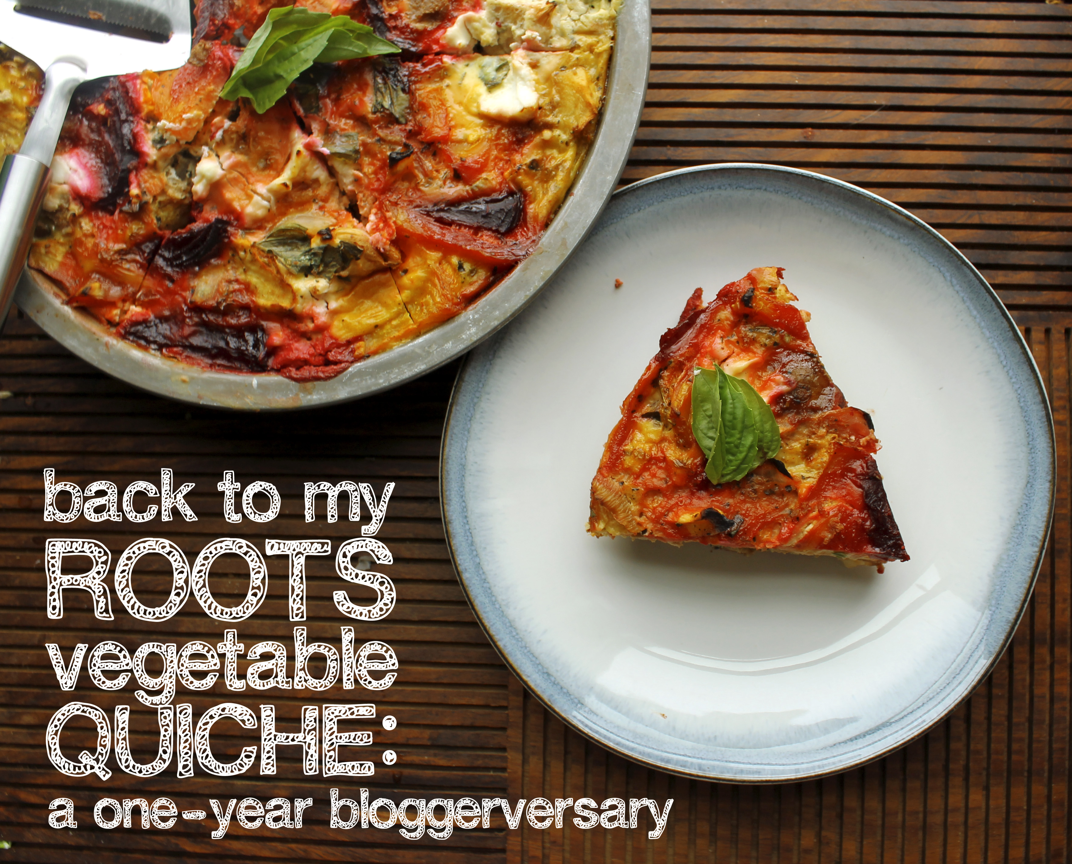 root vegetable quiche