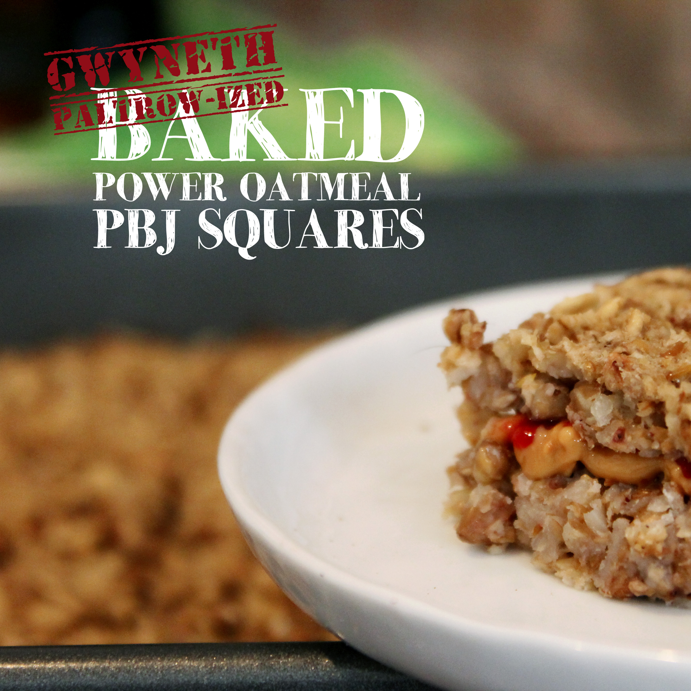 gwyneth paltrow baked power oatmeal pbj squares