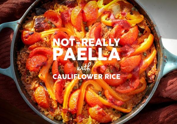 Paella with Cauliflower Rice